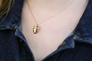 Mini Monstera Necklace