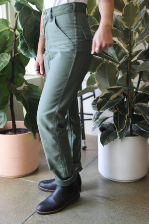 Taper Fatigue in Olive Sateen