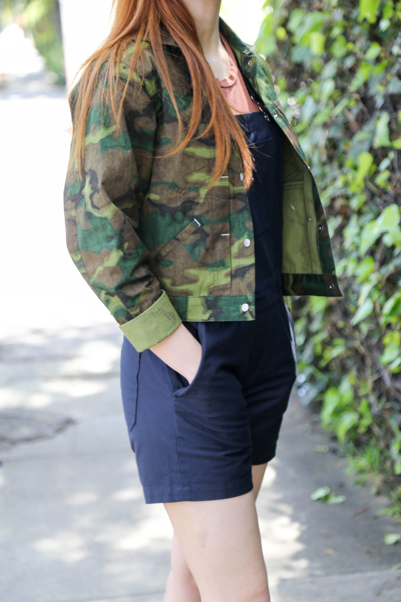 W'Menswear Striker Jacket in Jungle Camo