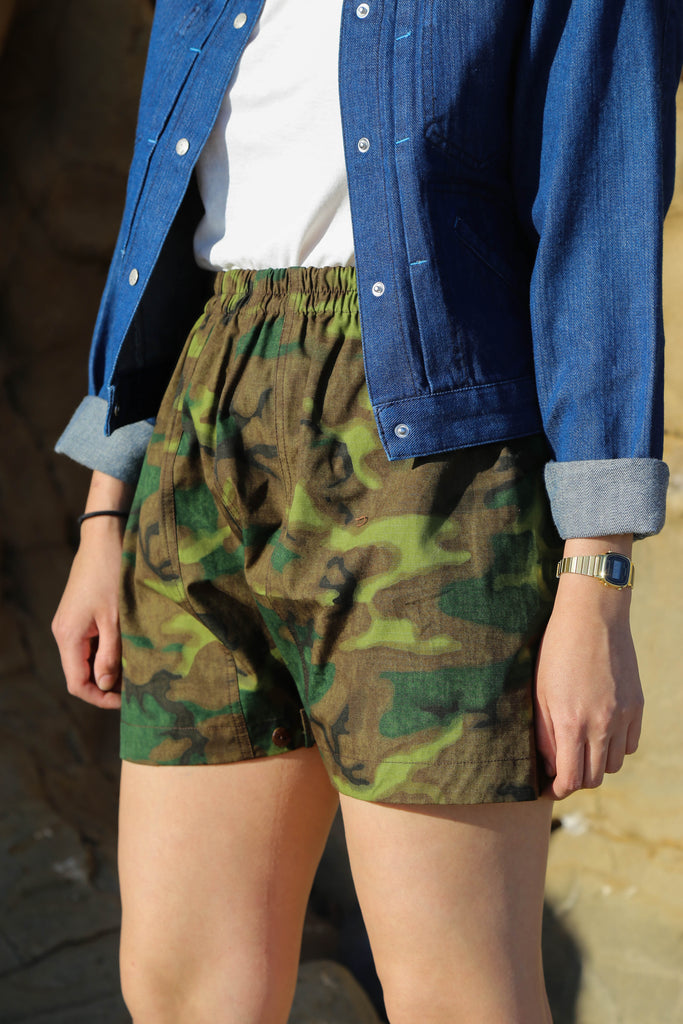 W'Menswear Mess Shorts in Jungle Camo