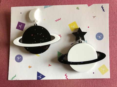 Stellar Saturn Earrings