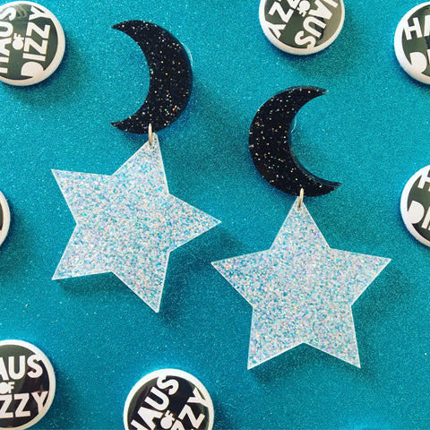 Starry Moon Earrings