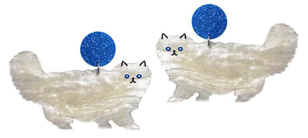 Fluffy Cat Earrings