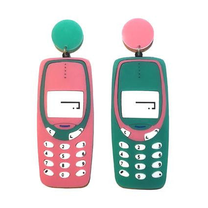 Mobile Phone Earrings