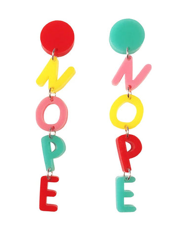 'Nope' Earrings