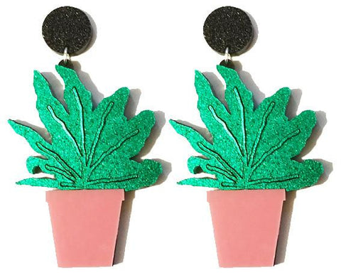 House Plant Earrings