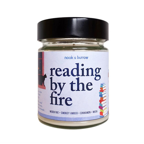 Reading by the Fire | candle