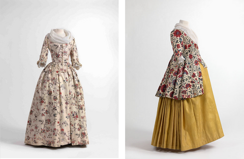 Chintz Dress and Jacket from ca 1750-1800