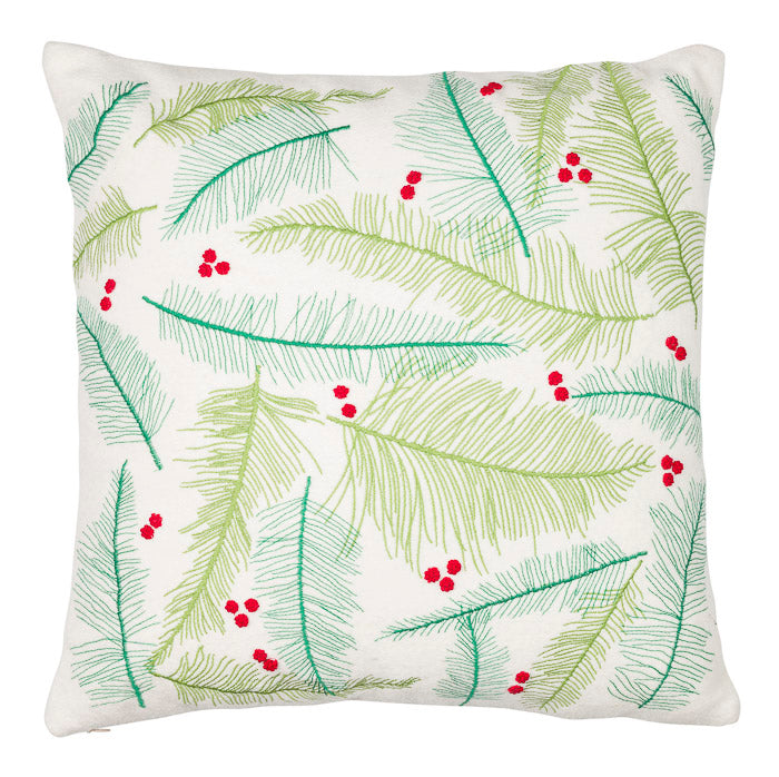 Cushion Cover - Green leaves - Multicolor