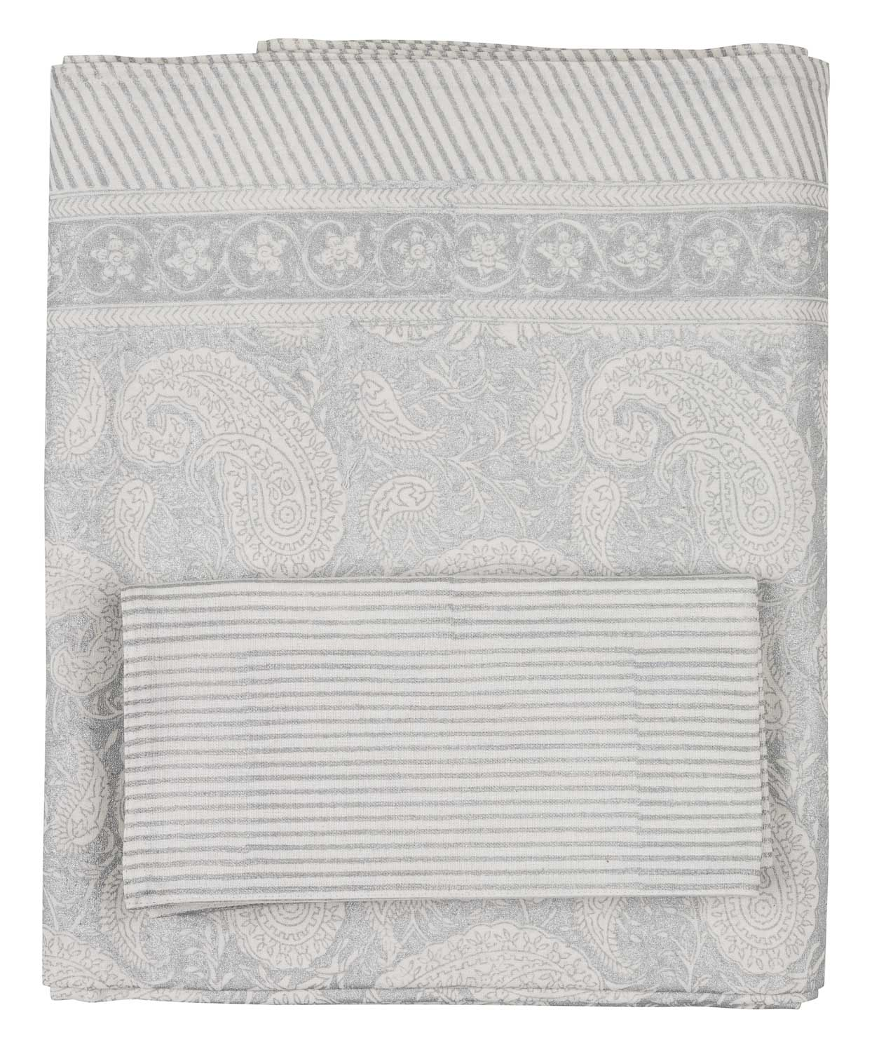 Tablecloth with Big Paisley® print in Silver