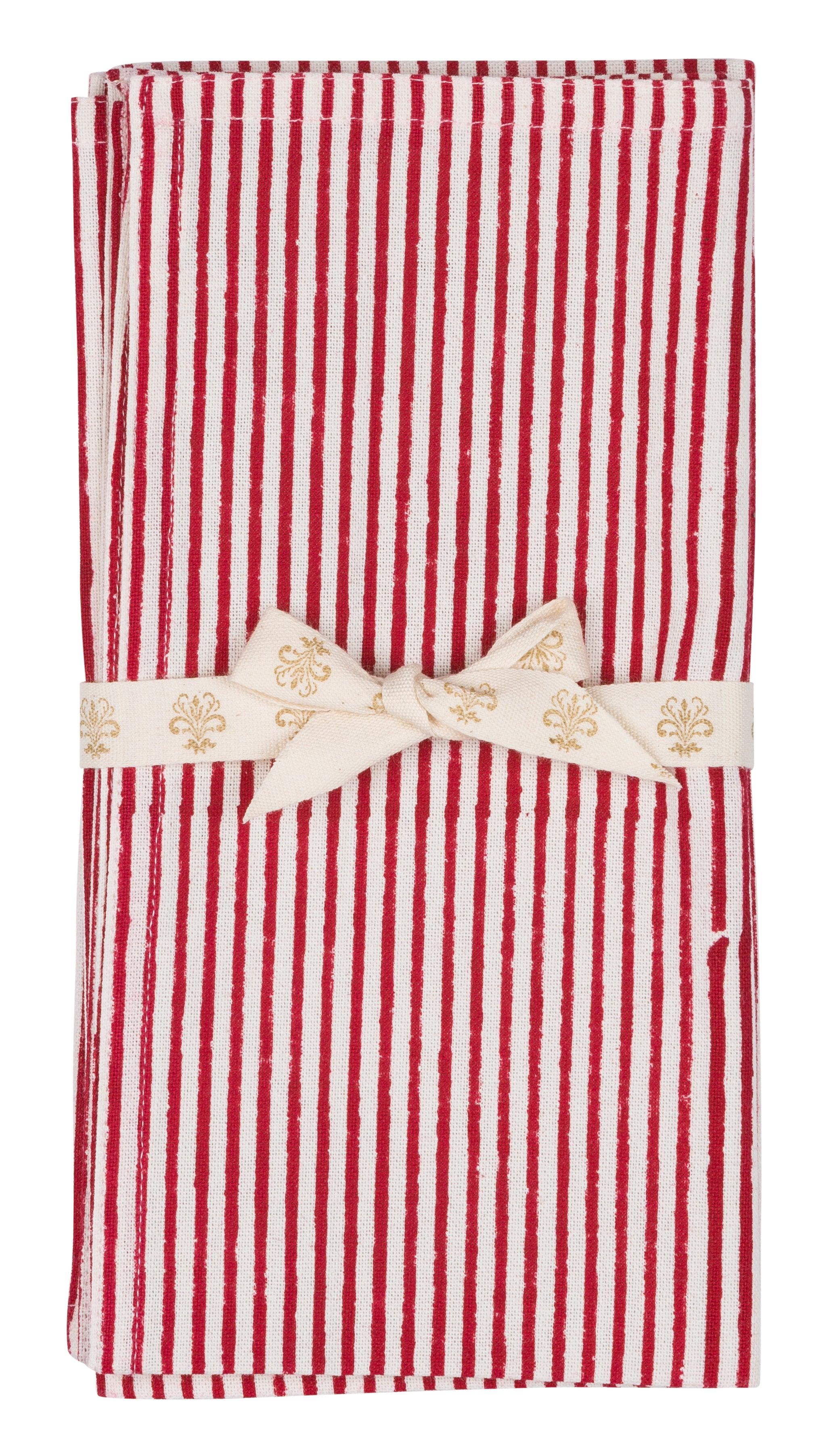 Stripe Napkins in Red