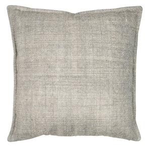 Blue brushed cotton cushion cover