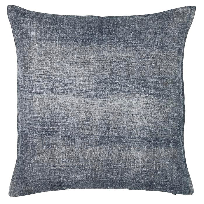 Grey brushed cotton cushion cover