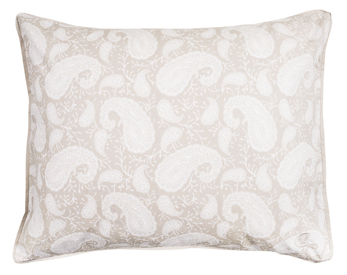 Chamois pillow case in beige dove color