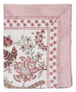 Tablecloth - Floral - Ruby - Cotton