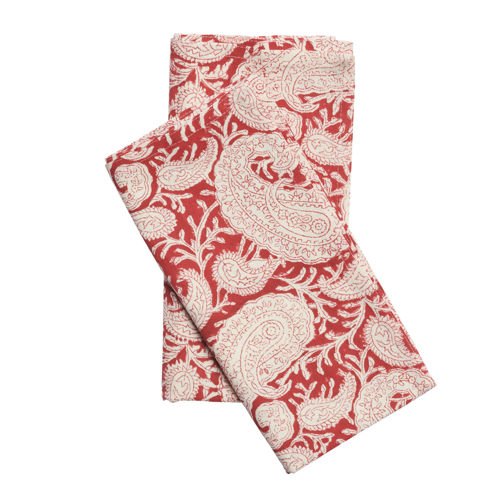 Big Paisley® napkins in Red