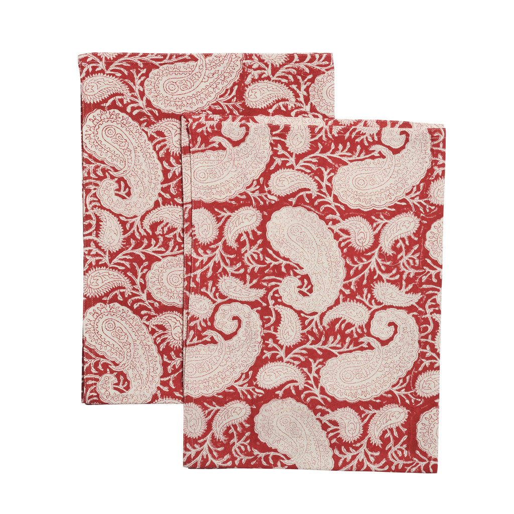 Big Paisley® kitchen towels in Red