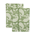 Kitchen Towel Set - Big Paisley® - Forest Green