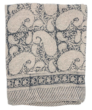Linen tablecloth with Big Paisley® print