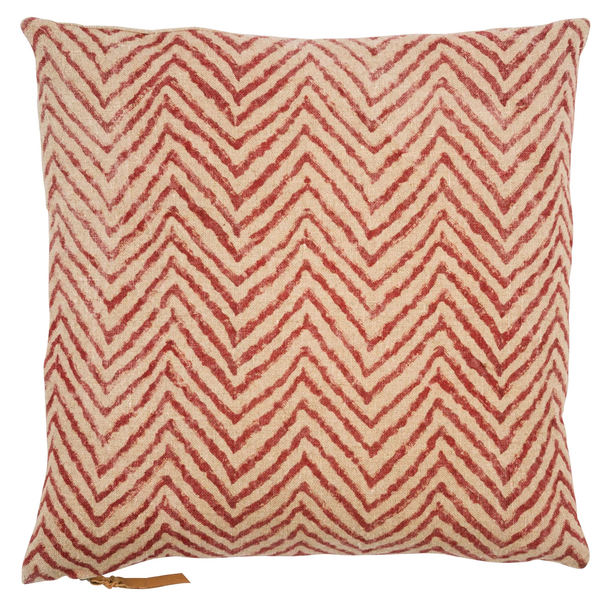Cushion Cover - Chevron - Spicy Red