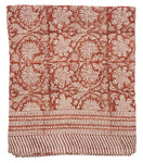 Linen Tablecloth with Paradise print in Spicy Red