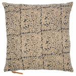 Linen Cushion with Jugend print in Dark Blue