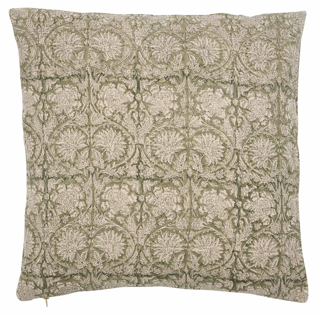 Paradise linen cushion in Green