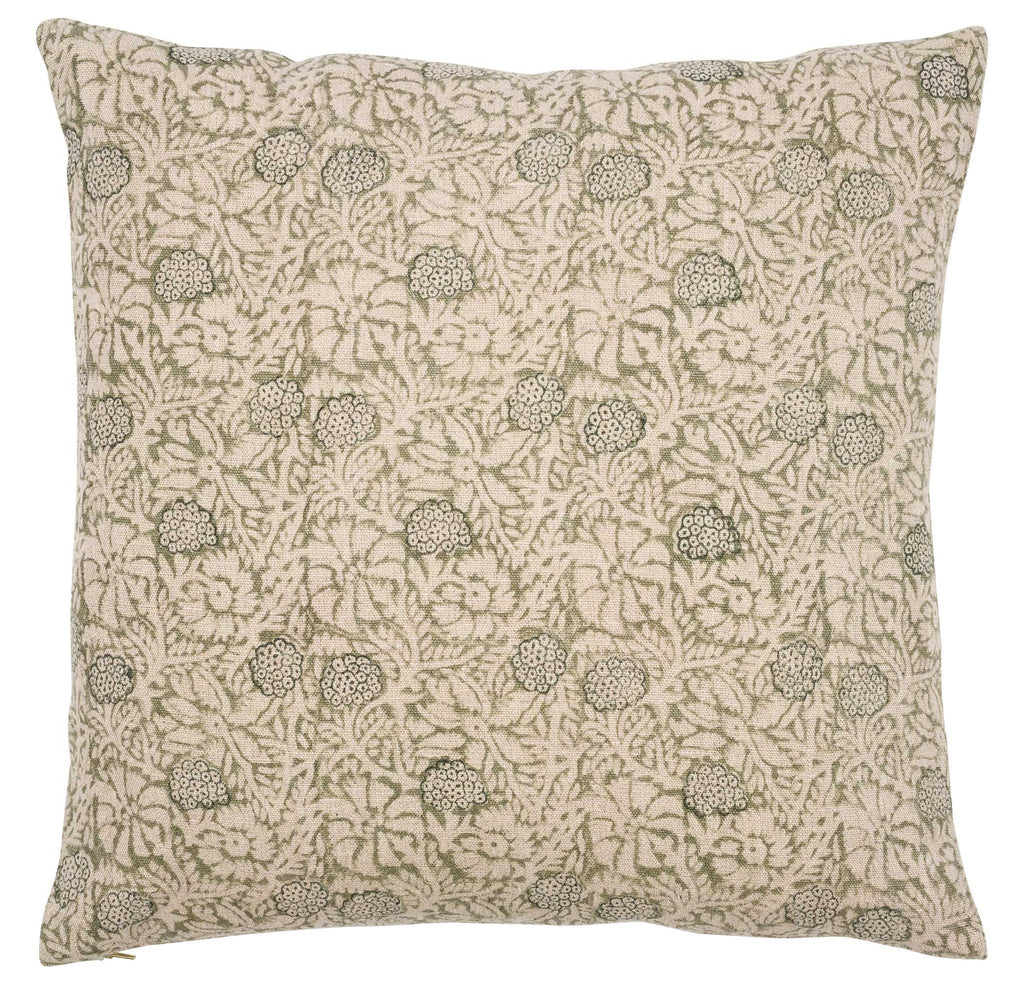 Linen cushion with Meadow print