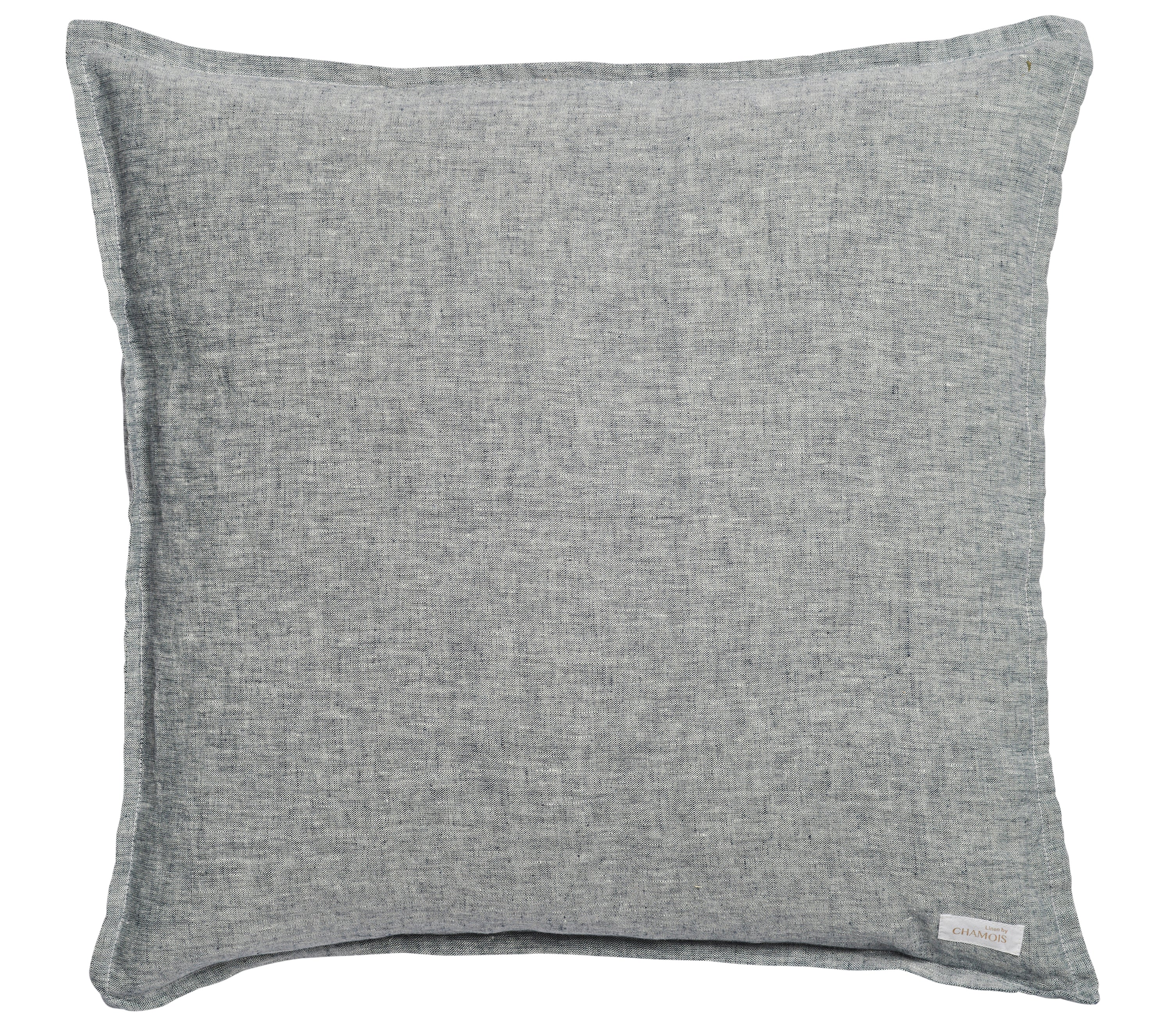Cushion in Navy Blue Chambray Linen