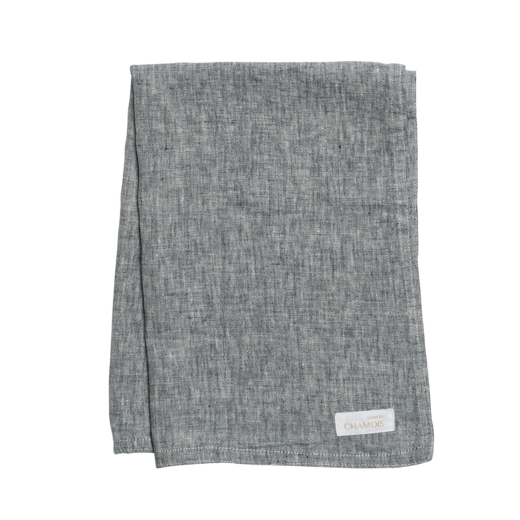 Linen Kitchen Towel in Navy Blue Chambray