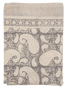 Tablecloth - Big Paisley® - Charcoal Grey on natural base
