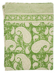 Tablecloth - Big Paisley® - Green on natural base