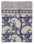 Tablecloth - Big Paisley® - Navy Blue on natural base