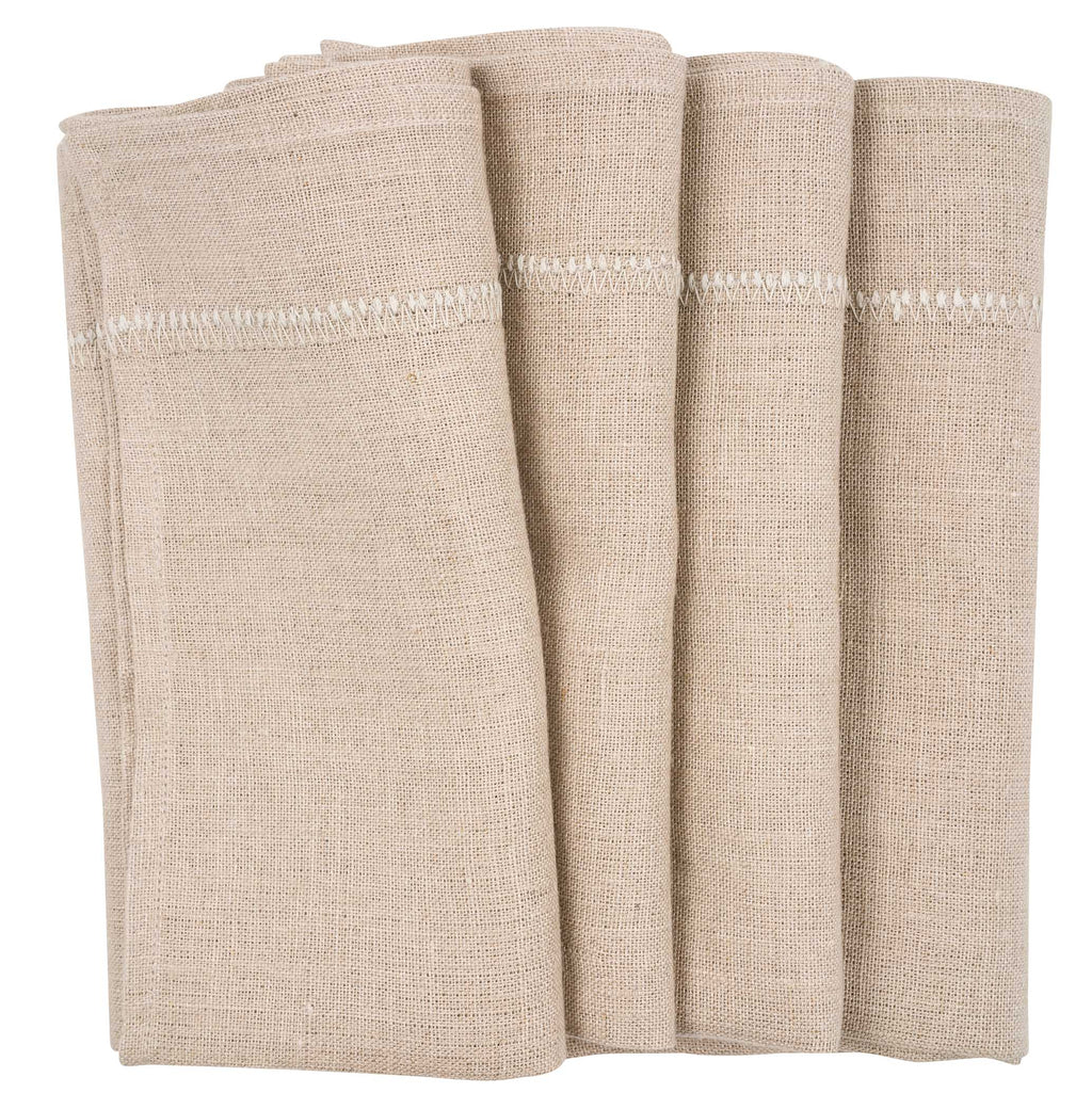 Set of Two Napkins - Natural Linen - Beige