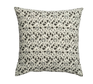 Olive Cushion with Flower print