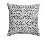 Black Cushion with Flower print