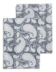 Big Paisley® kitchen towels in Sea Blue