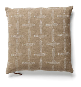 Cushion Cover - Fish - White