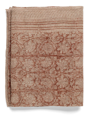 Linen Tablecloth with Paradise print in Rose