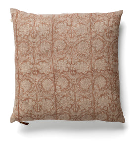 Linen cushion with Paradise print in Rose