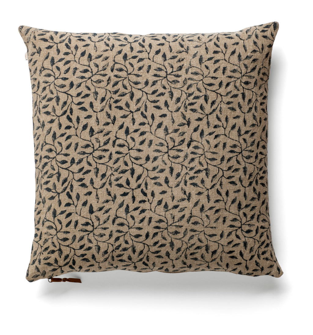 Cushion Cover - Leaf - Dark Blue