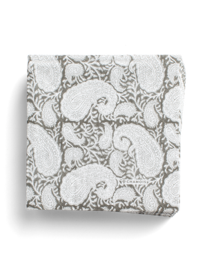 Paper Napkins Big Paisley® in Grey