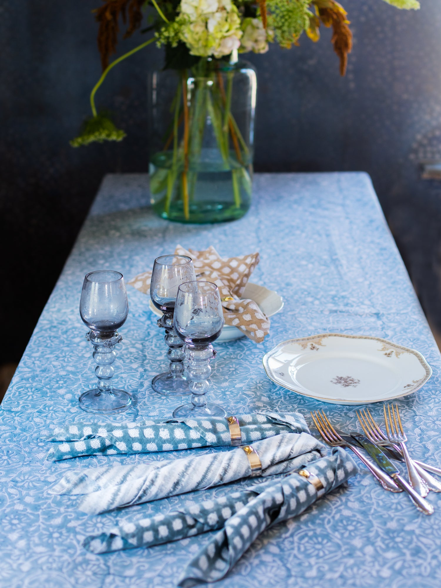Margerita Tablecloth in Cashmere Blue