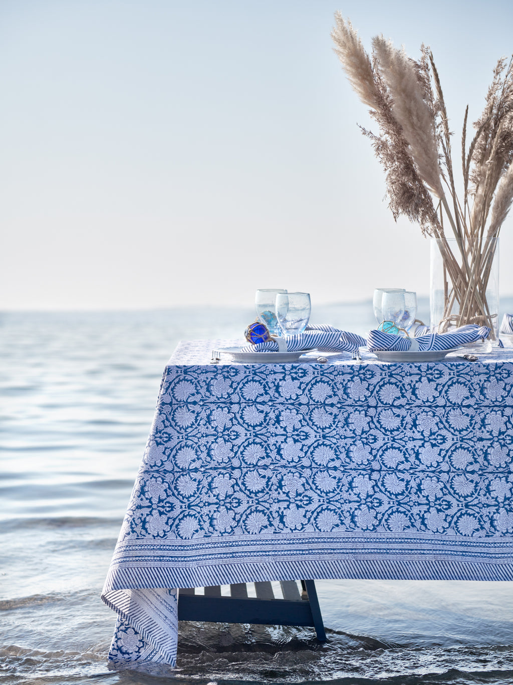 Paradise Tablecloth in Navy Blue