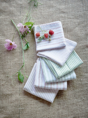 Electric Stripe Napkins in Green