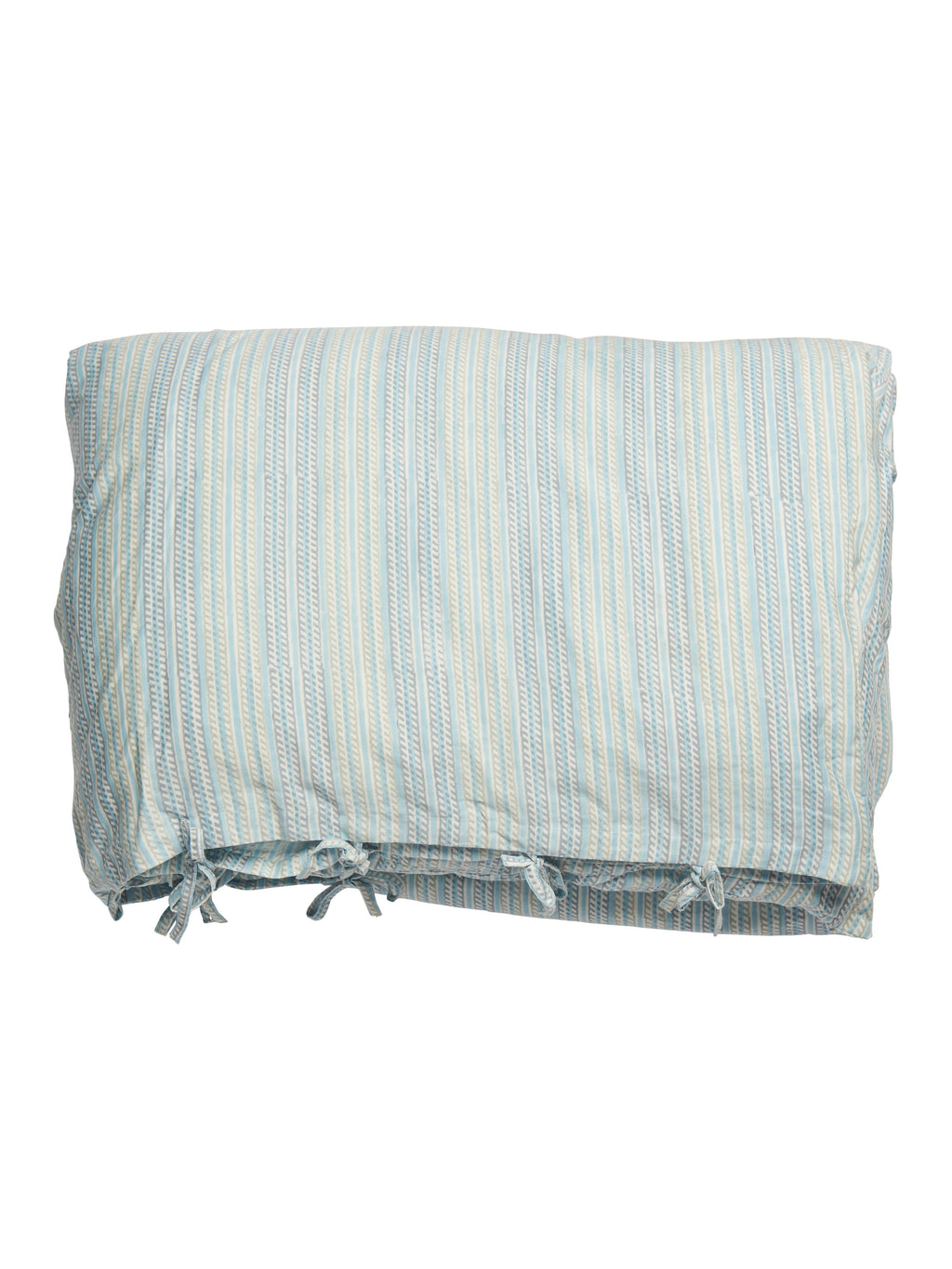 Bed set with Stripe print in Blue