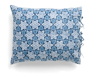 Pillowcase with City Palace print in Navy Blue