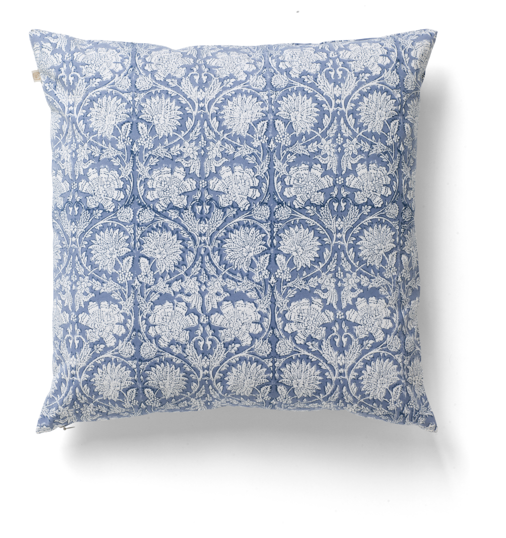 Paradise cushion in Cornflower