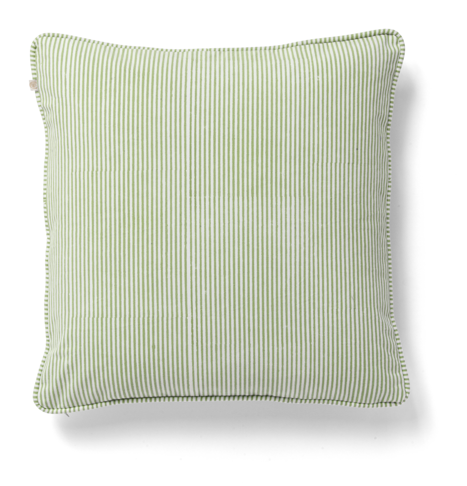Stripe Cushion in Green