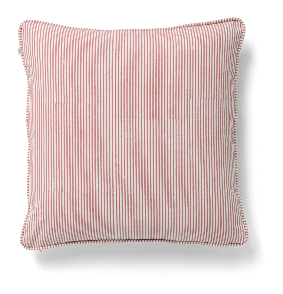 Stripe Cushion in Rose
